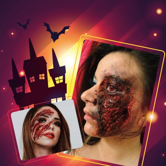 2019【美髮教育課程】Halloweenの特殊妝容